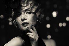 Красивая ретро женщина Стоковые Изображения RF