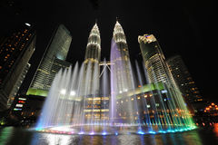吉隆坡,马来西亚城市地平线。双峰塔。 免版税图库摄影