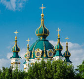 圣安德鲁斯教会,基辅,乌克兰 免版税库存图片