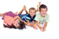 一起有儿童的乐趣 库存照片