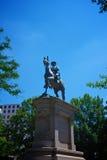 温菲尔德斯科特汉考克雕象 免版税库存照片