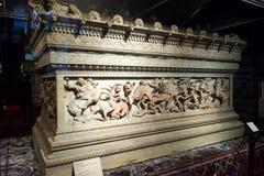 著名石棺伊斯坦布尔考古学的亚历山大 免版税图库摄影