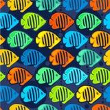 无缝的背景,天使鱼 免版税库存照片