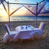 Романтичный обедающий Стоковое Изображение