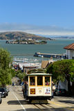 Τελεφερίκ του Σαν Φρανσίσκο Στοκ Φωτογραφία