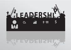 Διανυσματική ηγεσία οικοδόμησης γερανών εργοτάξιων οικοδομής Στοκ Φωτογραφίες