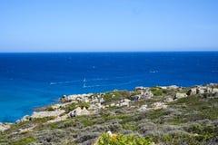 撒丁岛南海岸 免版税库存照片