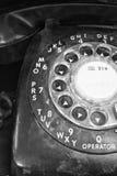 多灰尘的老电话 免版税图库摄影