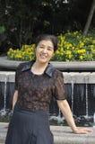 中国中部年迈的妇女 免版税库存照片