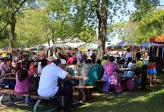 Обед на фестивале Стоковые Фото