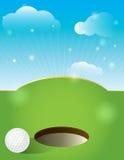Дизайн поля для гольфа Стоковое Изображение