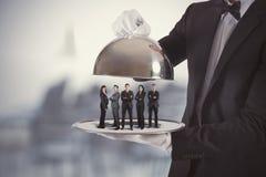 Команда обслуживания предприятий и первого класса Стоковое Фото