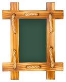 Παλαιός πίνακας κιμωλίας με το ξύλινο πλαίσιο Στοκ Εικόνες