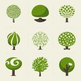 树。设计元素的汇集 免版税库存图片