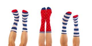 在袜子的脚 免版税库存图片