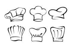 厨师帽子集合 免版税库存照片
