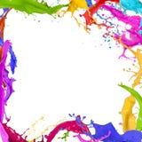 Красочный брызгать краски Стоковое фото RF