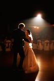 Счастливый танец свадебного банкета Стоковые Фотографии RF
