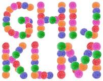 果冻糖果字母表信件 免版税库存图片