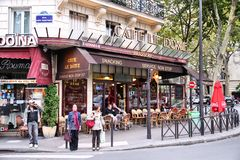 巴黎咖啡馆 免版税图库摄影