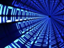 Концепция технологии тоннеля бинарного кода Стоковое Изображение RF