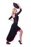 女性舞蹈家跳舞 免版税库存照片