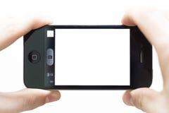 拍与智能手机的照片 免版税库存照片