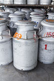 Ακατέργαστο γάλα δεξαμενών Στοκ φωτογραφίες με δικαίωμα ελεύθερης χρήσης