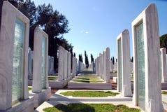 土耳其军事公墓 免版税库存图片