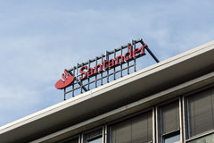 桑坦德小组是西班牙银行团体 库存图片