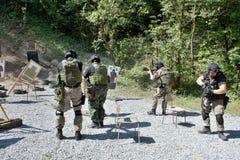 Специальное подразделение милиции в тренировке Стоковые Фото