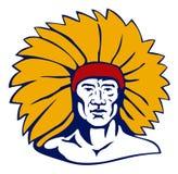 美国首要印第安当地人 免版税库存照片