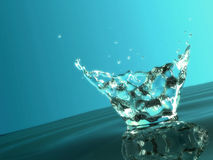 охладьте воду выплеска Стоковое Изображение RF