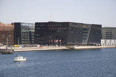 皇家丹麦图书馆-黑金刚石 免版税库存图片