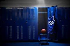 篮球更衣室 库存图片