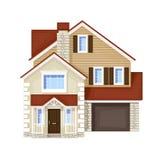 单身家庭的房子 免版税库存照片