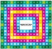与明亮的正方形的抽象背景 免版税库存图片