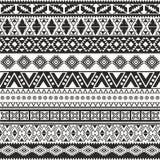 部族无缝的样式 免版税库存照片