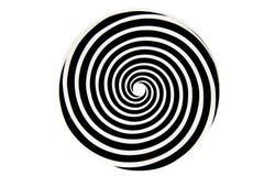 黑白催眠旋涡 免版税库存照片