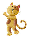切开拥抱的猫 免版税库存图片