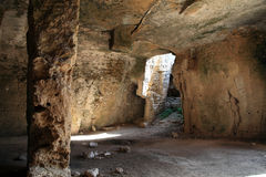 基督徒地下墓穴,帕福斯,塞浦路斯 免版税库存照片