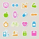 Значки фитнеса и здоровья. Стоковое Изображение RF