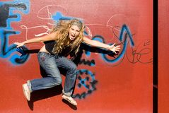 скача подросток ультрамодный Стоковые Изображения RF
