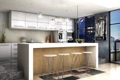 现代厨房 图库摄影