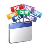 浏览器和领域。互联网概念 库存图片