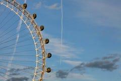 伦敦眼摘要 库存图片