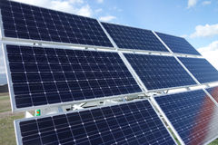 Клетки панелей солнечных батарей Стоковые Фото
