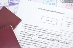 填装的签证 库存照片
