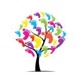 Δέντρο, πόδι, πόδι, τυπωμένη ύλη που απομονώνεται στο άσπρο υπόβαθρο Στοκ Φωτογραφίες