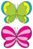 蝴蝶(向量夹子艺术) 免版税图库摄影